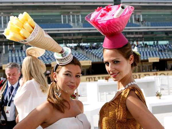 Some strange creations are on display at the Dubai World Cup